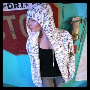 """neff """"jet"""" zip-up hoodie"""